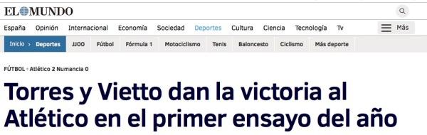 Victoria Atletico contra Numancia