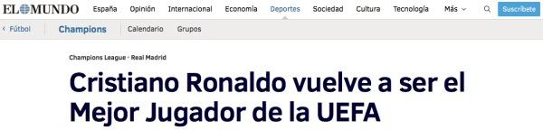 Jesús F. Lorences | Cristiano Ronaldo